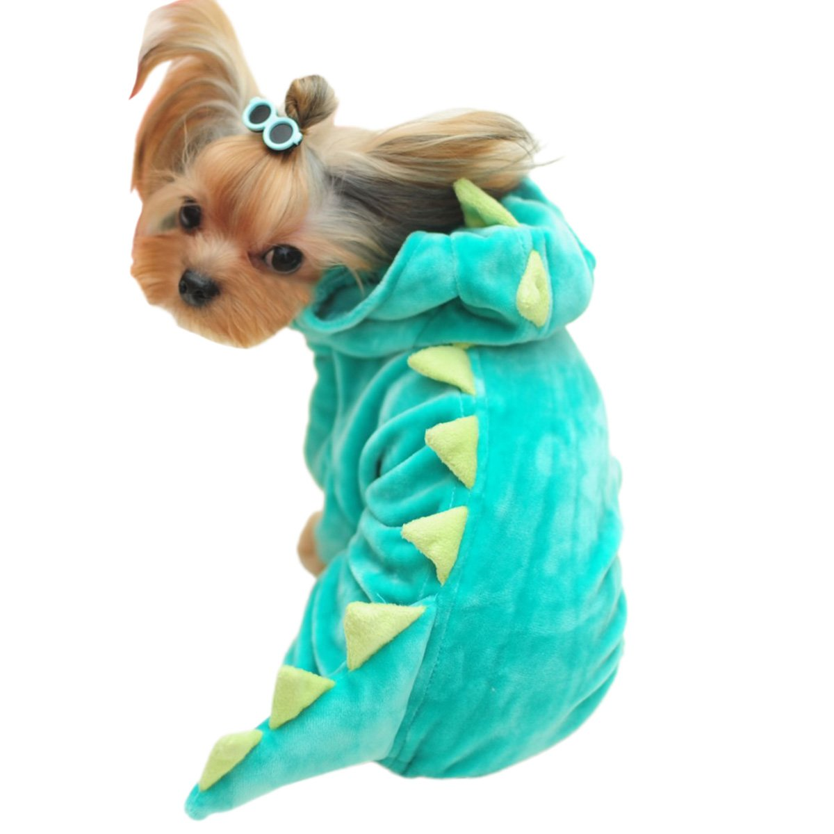 UHeng Funny Pet Dog Cat Hoodie Coat Dinosaur Shark Jaws Halloween Cosplay Costume