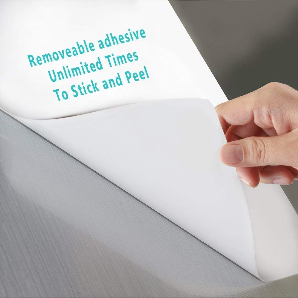 Washable Self-Adhesive Whiteboard Sticker 8.5'' x 11'' Small Dry Erase Notes Sheets for Desk,Wall,Fridge,Dorm,Classroom,Door,Removable,Super Sticky,Stain-Proof, ( 5 Sheets )