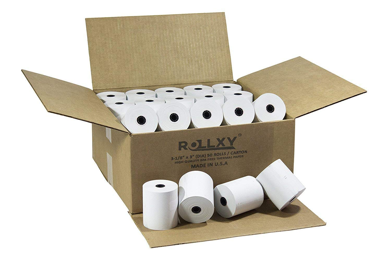 3 1/8 x 230 Thermal Rolls for POS Printers (50 Rolls Per Box)