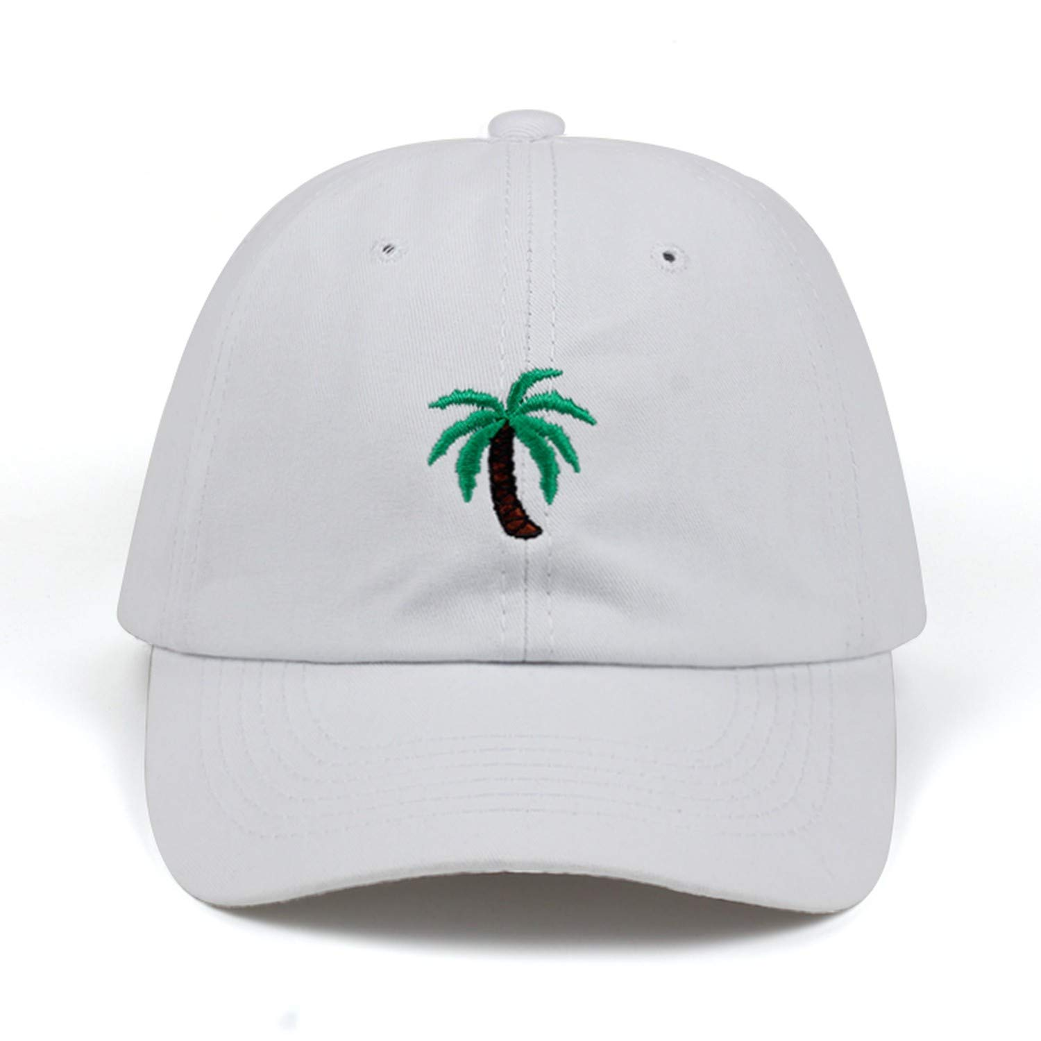 60d8c93b Amazon.com: Glad You Came New Embroidery Palm Trees Curved Dad Hats Take A Trip  Baseball Cap Coconut Trees Hat Strapback Hip Hop Cap Adjustable,Pink: ...