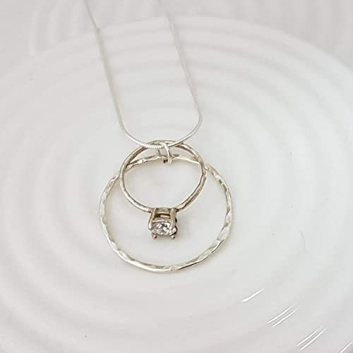 Amazon Com Karma Circle Wedding Ring Holder Necklace In Sterling