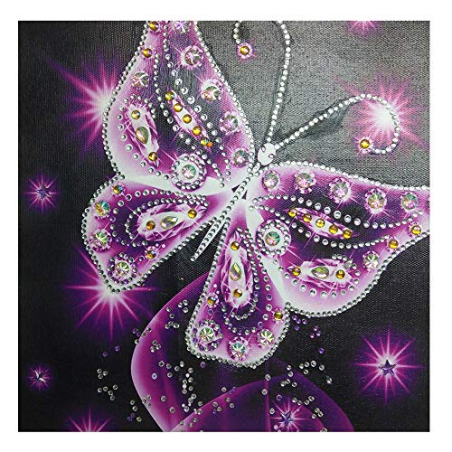 - Staron 5D DIY Diamond Painting by Number Kits, Butterfly - 2018 Newest Special Shaped 5D Crystal Drill Cross Stitch Craft Kits Butterfly Picture Paint with Diamonds for Adults Kids Room Decor (C)