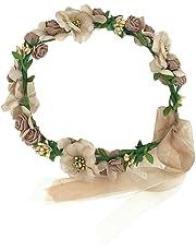 YAZILIND Elegante joyeria Corona Diadema de Marfil Artificial de Flores de Fresa de Color Rosa estambres de Pelo Decorado con Estilo Accesorio de Fiesta de la Boda Tocado para Las Mujeres Ninas
