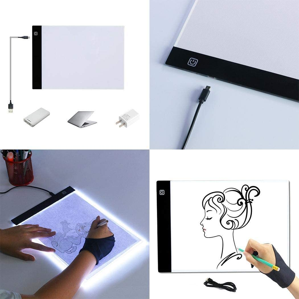 erholi Ultra-Thin Portable LED Copy Station Painting Board Art Tools Sk Graphics Tablets