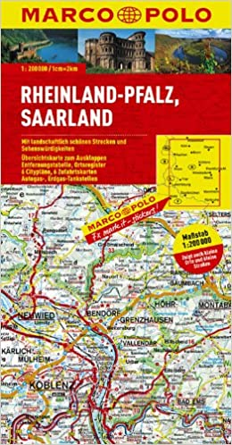 Marco Polo Karte Deutschland 10 Rheinland Pfalz Saarland 1 200