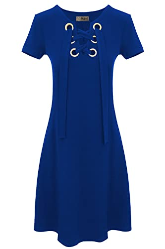 HyBrid & Company Women's Super Comfy Plum Cross V-Neck MIDI Dress