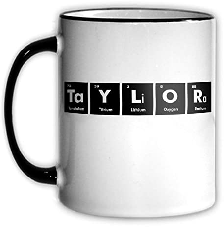 Amazon taylor periodic table coffee tea mug with chemical taylor periodic table coffee tea mug with chemical symbols for a science nerd or geek urtaz Choice Image