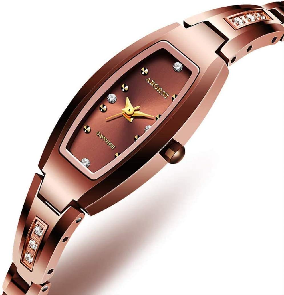 YGFS Casual Moda Damas Reloj Impermeable Pulsera Coreana Diamante tungsteno Acero Reloj de Cuarzo