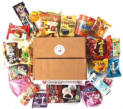 Deluxe Asian Snack Box  20 Count    Variety Assortment Of Japanese Candy  Korean Snacks And More    College Care Package   Gift Care Package