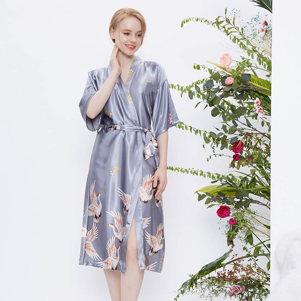 Women's Autumn Robe Sexy and Elegant Nightgown Home Service Classic Bathrobe Pajamas and Cardigan Home Service
