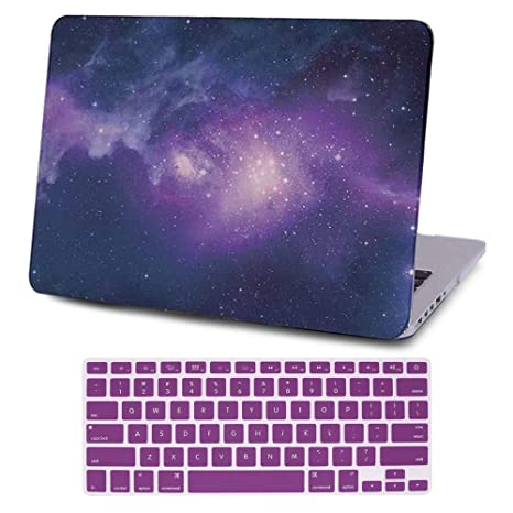 """2in1 PURPLE Rubberized Case for Macbook Pro15/"""" A1398 Retina display+Key Cover"""