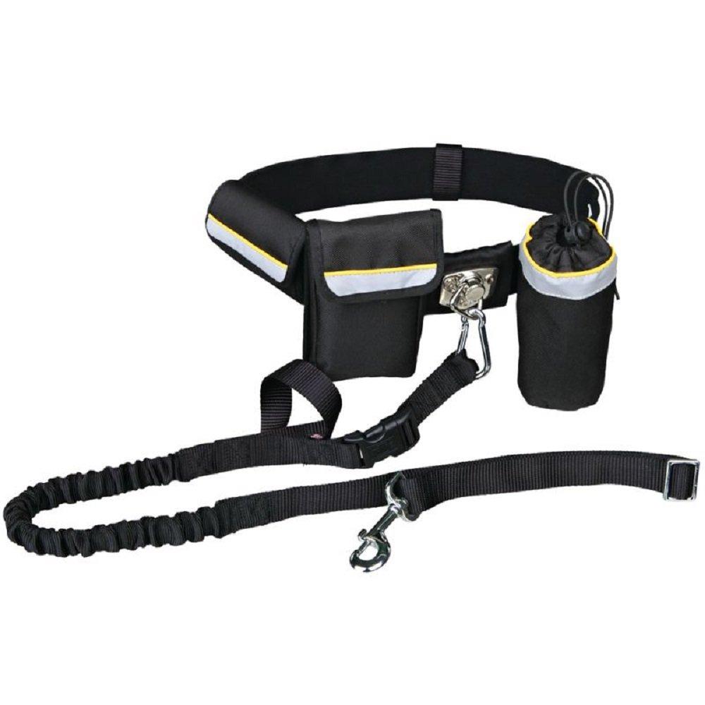 Manos libres Cintura plomo ajustable de perro prácticos bolsillos ...