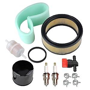 Panari 47 883 03-S1 Air Filter + Oil / Fuel Filter Spark Plug for Kohler CH18 CH20 CH22 CH23 CH25 CV17 CV18 CV19 CV20 CV22 CV22S CV23 Engine Lawn Mower