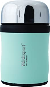 thinksport 12Oz (350ml) Insulated Food Container with Spork - Coated Mint Green