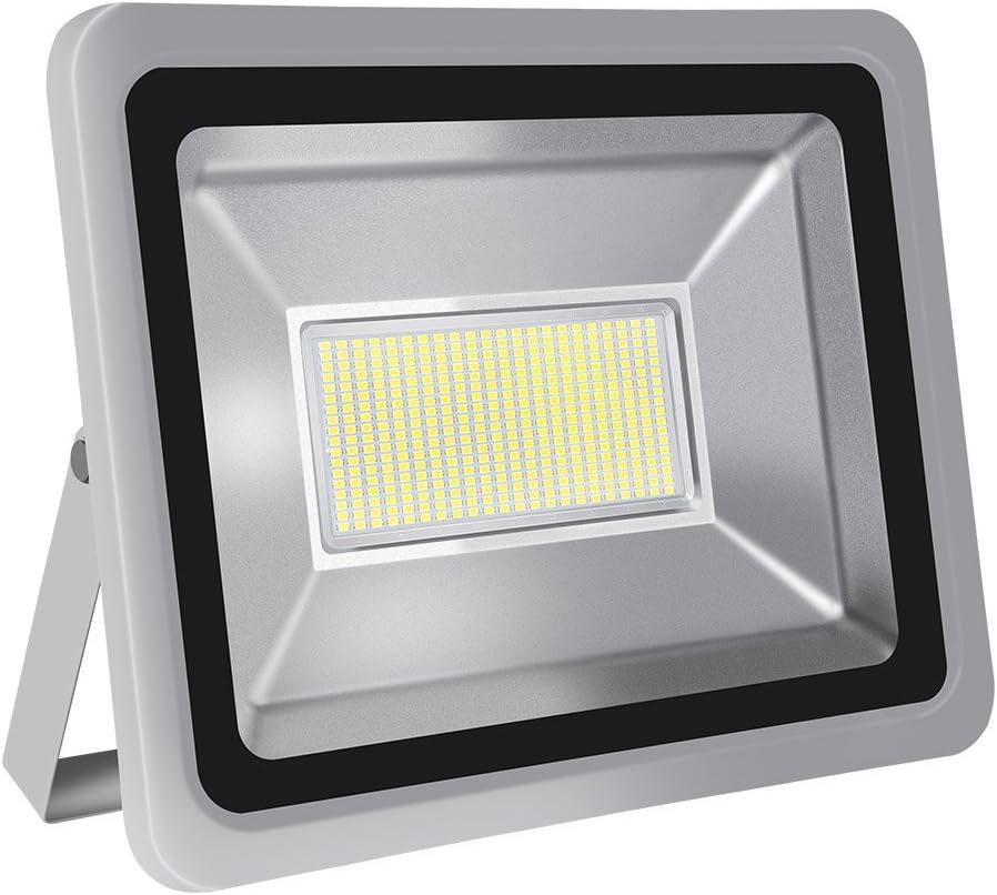 Foco proyector LED 20W/30W/50W/100W/150W/200W/300W/500W/800W para exteriores, 1000LM-56000LM, Blanco frio 6000-6500K resistente al agua IP65, luz amplia, luz de seguridad Floodlight (200)