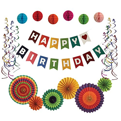 Good Party Kit | Ultimate Birthday Party Decorations | Happy Birthday Banner | Party Supplies | Colorful Birthday Party Decorations for All Ages | BONUS INCLUDED! -
