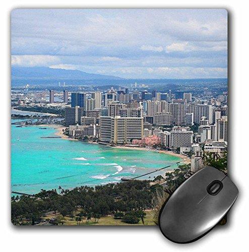 Waikiki Beach Honolulu (3dRose Cities Of The World - Waikiki Beach In Honolulu, Hawaii - MousePad (mp_268608_1))