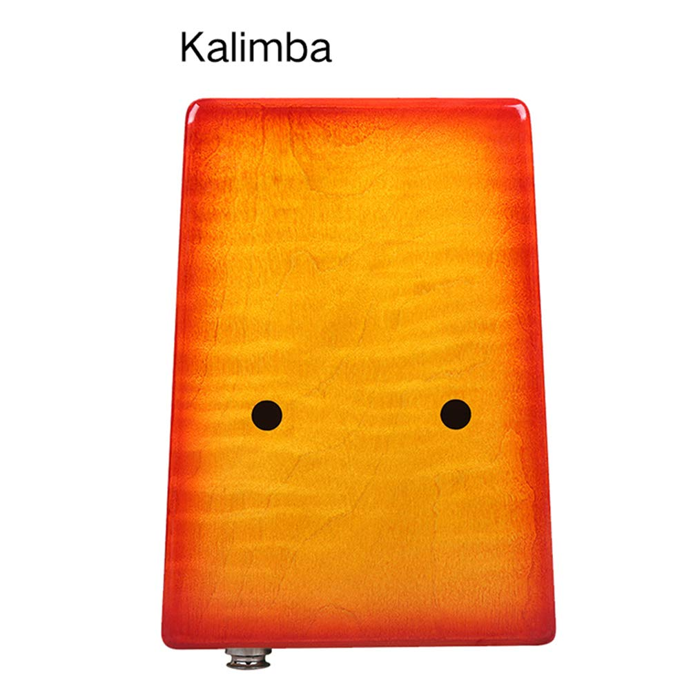 MG.QING Kalimba 17-Key Curly Maple Thumb Piano Built-in EVA Gigh Performance Protection with Pickup,Yellow by MG.QING (Image #4)