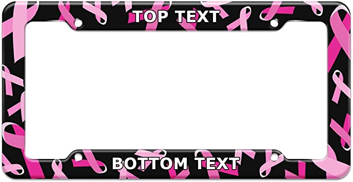 Bell Automotive 22-1-46450-8 Pink Ribbon License Plate Frame