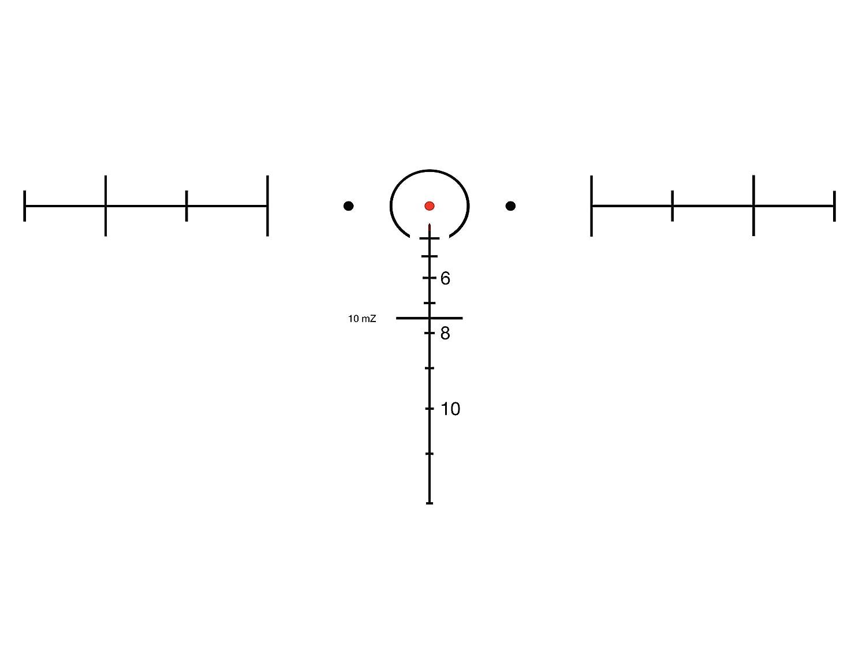 Red Trijicon ACOG 6 X 48 Scope Dual Illuminated Horseshoe .308 Ballistic Reticle