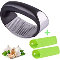 Garlic Press, Mincer and Crusher with Garlic Rocker - Professional Grade Dishwasher Safe, Rusting-Proof and Easy to Cleaning