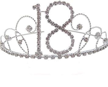 Silver Diamante Crystal 18th Birthday Tiara / 18th Diamante Tiara 18th Birthday Crown 18th Gift Idea af3k1YTq9W