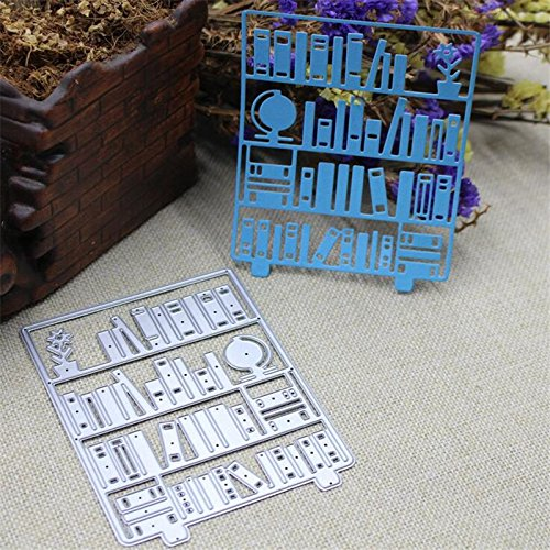 - Book Shelf Cutting Dies Cut Metal Scrapbooking Stencils Die for DIY Embossing Photo Album Decorative DIY Paper Cards Making Craft