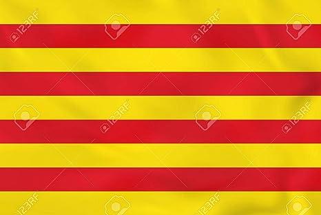 Durabol Bandera de Cataluña 150*90 cm Satén +Regalo una pegatina: Amazon.es: Deportes y aire libre