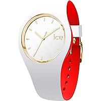 Ice-Watch - Ice Loulou White Gold - Montre Blanche pour Femme avec Bracelet en Silicone