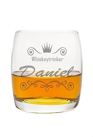 FORYOU24 Edles Whiskeyglas mit Gravur Motiv Krone I Geschenkidee  Whisky-Glas graviert Geburtstagsgeschenk Vatertag