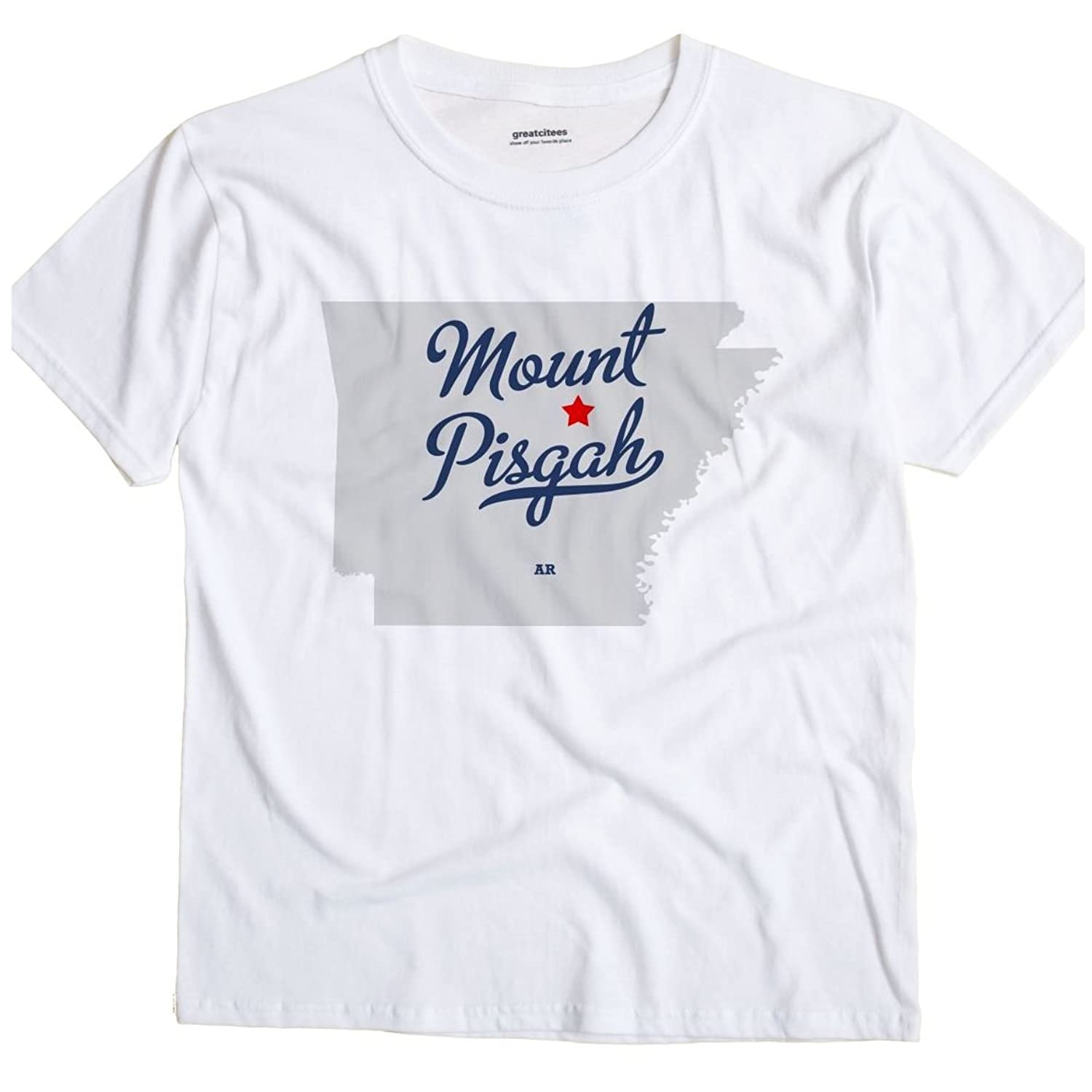 Mount Pisgah Arkansas AR MAP GreatCitees Unisex Souvenir T Shirt