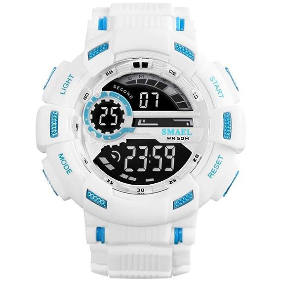 SMAEL Mens Digital Watch Large Face Sports Watch Waterproof Wrist Watch for Men Multifunctions Electronics Quartz Watch