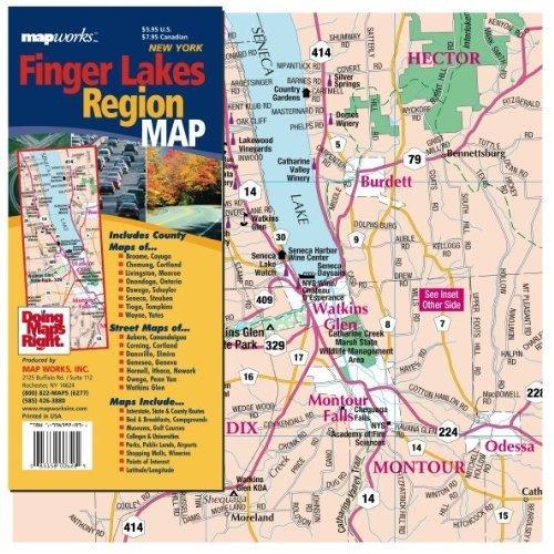 Finger Lakes Region Map: Inc. MapWorks: 9781934382394 ...
