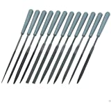 12 PIECE HAND MINIATURE SIZE MINI SMALL NEEDLE METAL WORKING FILE TOOL SET KIT
