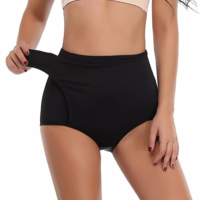 45fe5d91231 MISS MOLY Women s Brief High Waist Trainer Tummy Control Panty Trimmer  Shapewear Black XS