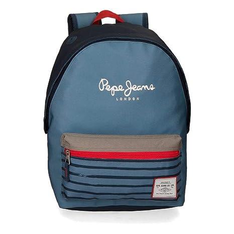 Pepe Jeans Yarrow Mochila Escolar, 42 cm, 22.79 litros, Azul ...