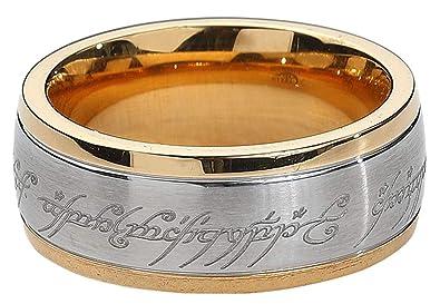 Señor de los Anillos El acero inoxidable PVD Un anillo ...