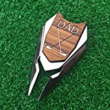 The Quintessential Hostess DAD Engraved Golf Gift Divot Tool and Ball Marker in Teak Wood - Dad Personalized Gift, Dad, Gift for Dad, Dad Birthday Gift