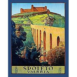 """11""""x14""""Travel Poster.Spoleto Umbria.Italy.Italia.Perugia.7362"""