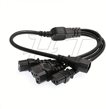 C14-2xC13 30cm HTCable UPS PDU Computer PC Power Splitter Cord C14 to 2 x C13 10A 250V Extension Cable 12