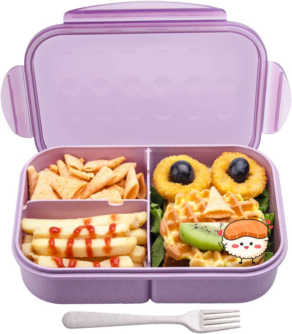 Lunch Box for Kids,MissBig Ideal Bento Lunch Box,Leak Proof and Food Seperated,Mom's Choice Kids Lunch Boxes,No BPAs and No Chemical Dyes,Ideal Bento Lunch Box for Kids,Microwave and Dishwasher Safe.
