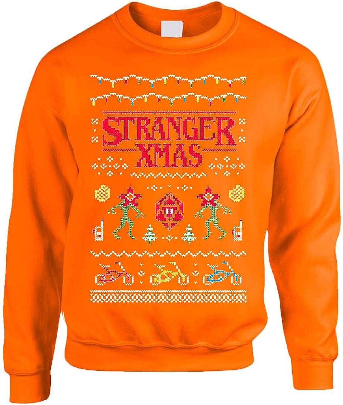 ALLNTRENDS Adult Sweatshirt Stranger Xmas Funny Ugly Christmas Sweatshirt