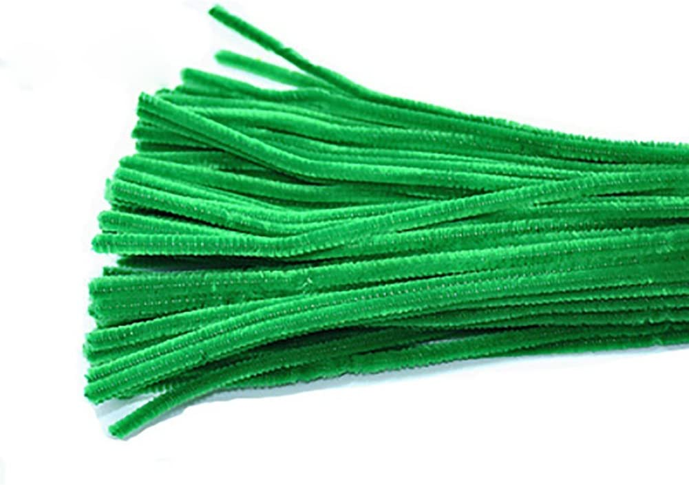 Verde Oscuro 30cm x 6mm Kentop 100pcs Limpiapipas Chenilla Alambre Flexible de Peluche 30/cm para DIY Artesan/ía Decoraci/ón Fibra