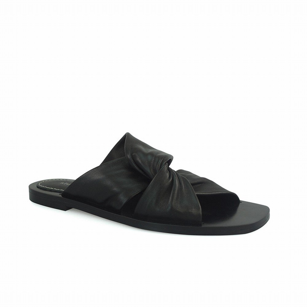 DHG Sommer - Damen Cross-Slip-Sandalen und Hausschuhe,Schwarz,35 - Sommer cc266c