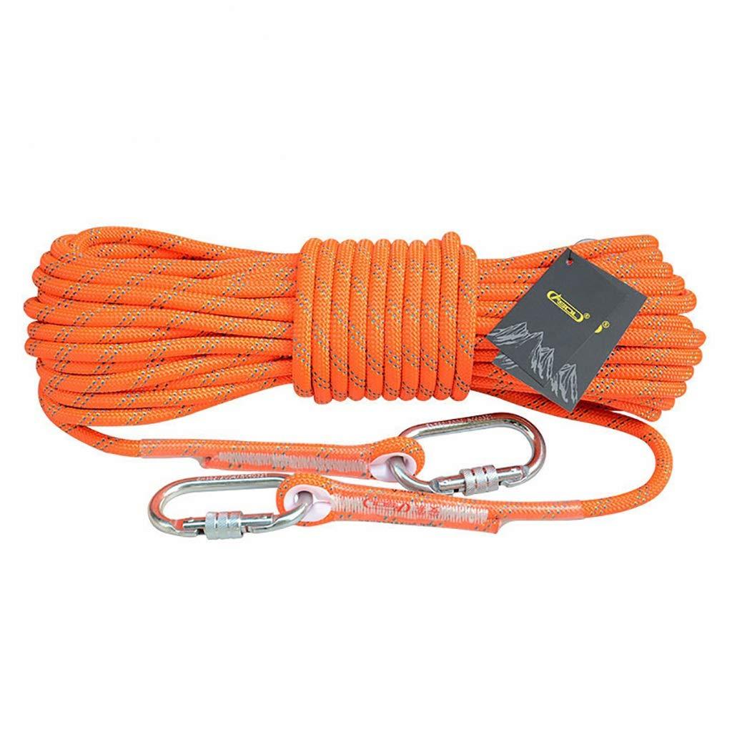 QARYYQ Corde d'escalade Corde Statique Travail aérien Corde de Descente en Rappel diamètre extérieur 10.5 12   14mm Orange Cordes (Taille   14mm 10m) 14mm 100m