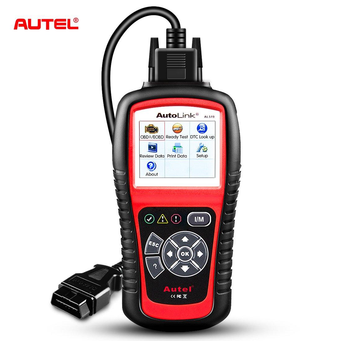 Autel AL519 Car Diagnostic Scanner OBD2 Tool Automotive Machine Engine EOBD Fault Code Reader CAN Vehicle Check tool Since 1996 or Later Autel AutoLink AL519