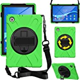 """ZenRich Lenovo Tab M10 HD (2nd Gen) 10.1 Inch 2020 Case TB-X306F/TB-X306X 10.1"""" Case with Rotatable Kickstand,Hand Strap and"""