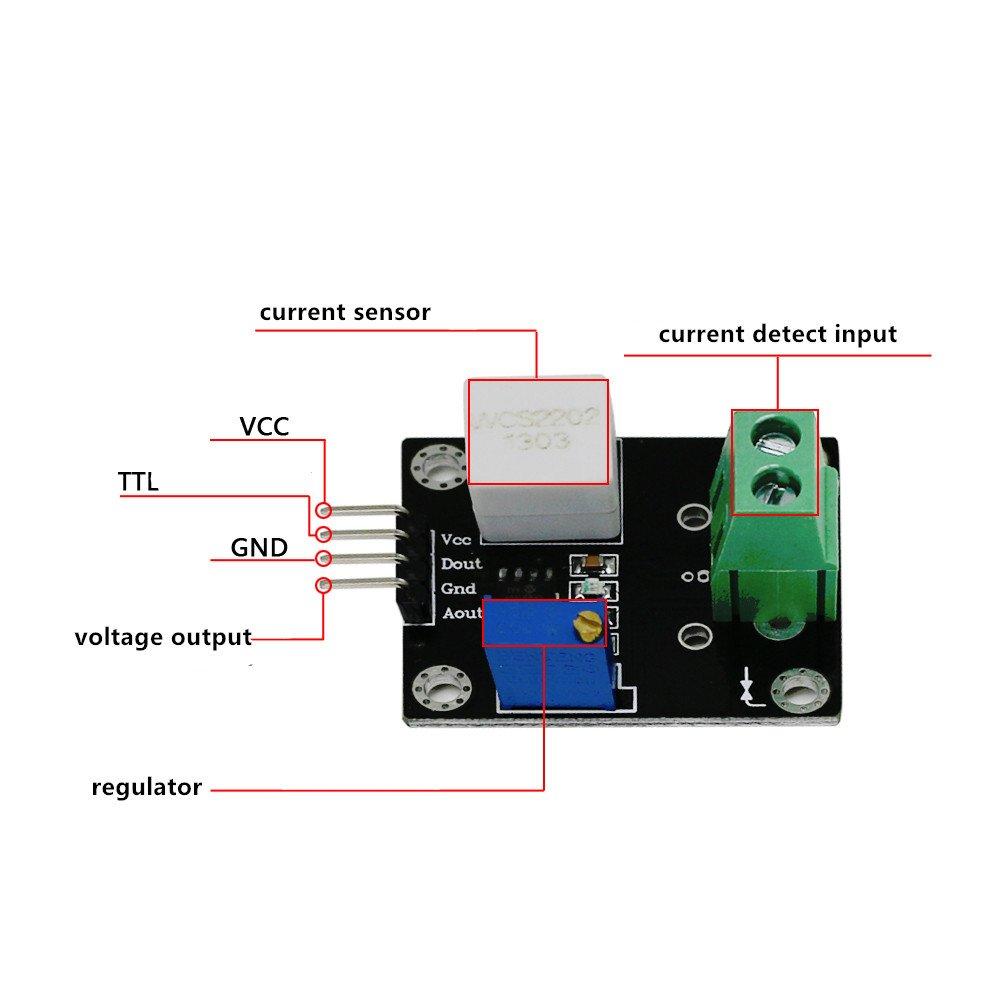 1pcs Lot Wcs2720 Hall Effect Sensor Circuit Transducer Current Detector Sensing