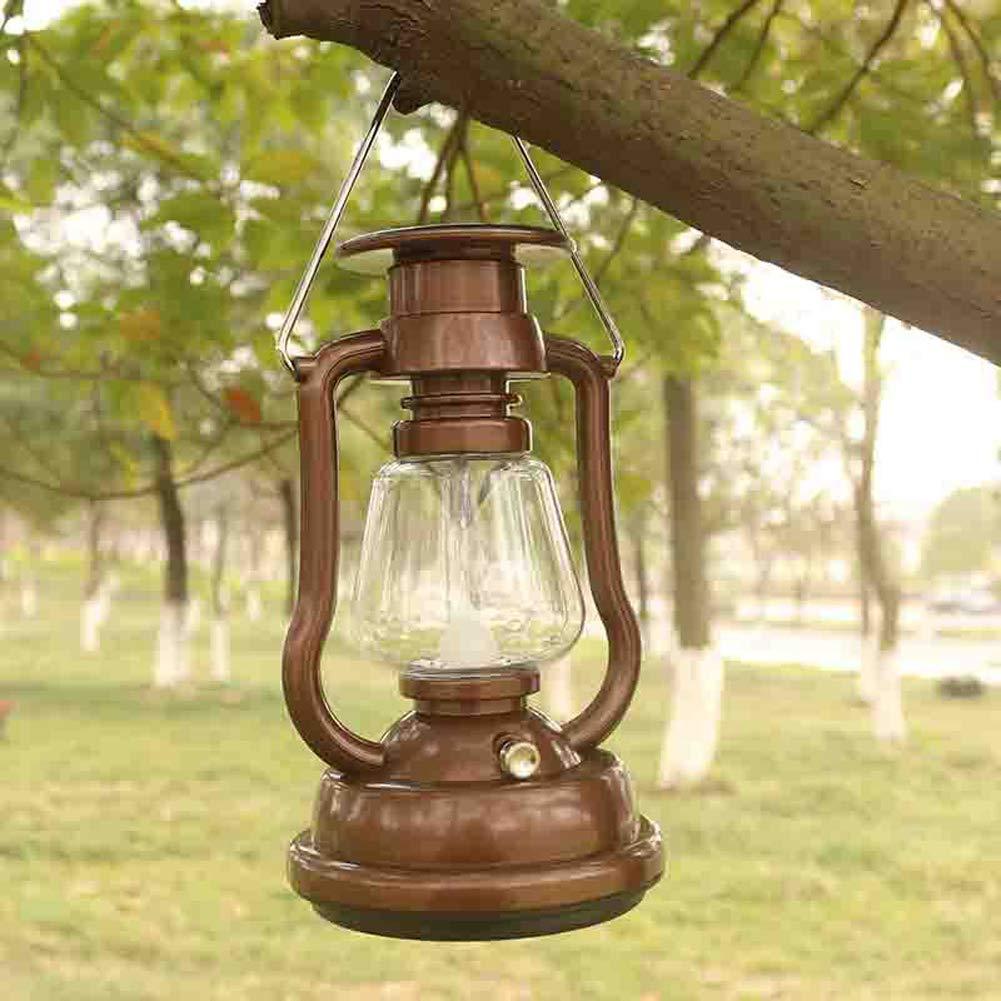Outdoor Camping Licht Notfall Camping Licht Led Solar Retro Pferd Licht Hand Stromerzeugung Usb Ladezelt Licht Bronze 18X10X10Cm