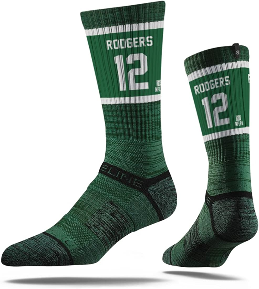 Aaron Rodgers #12 Green Bay Packers Youth Strideline Socks